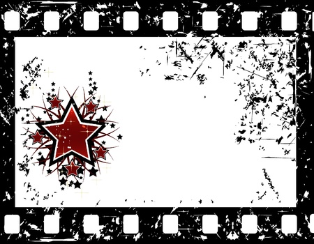movie background with stars Vector