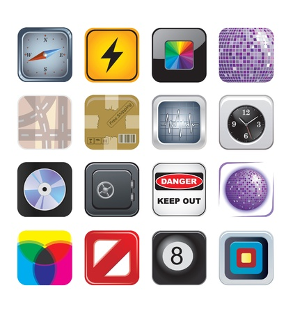 compact: apps icons set two Illustration