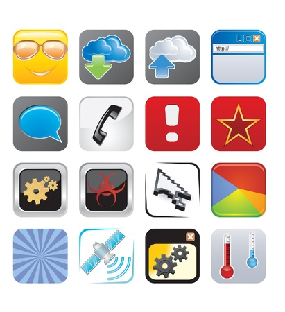 sattelite: apps icons set four