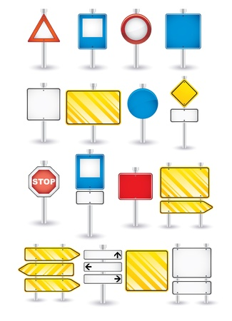 closed parking: set of road signs