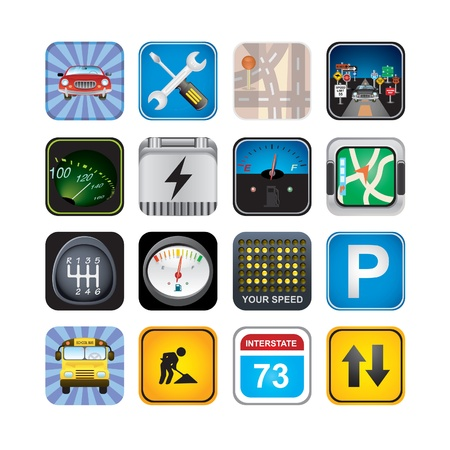 gas meter: car  signs and icons