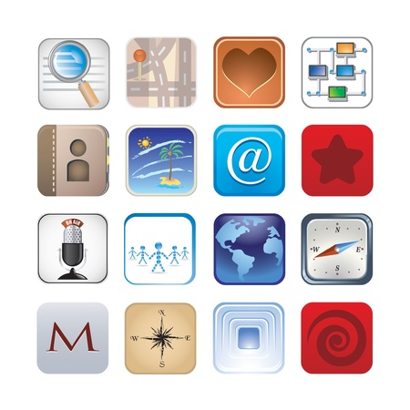 social icon set Stock Vector - 17968021