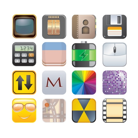 set of apps icons Stock Vector - 18081491