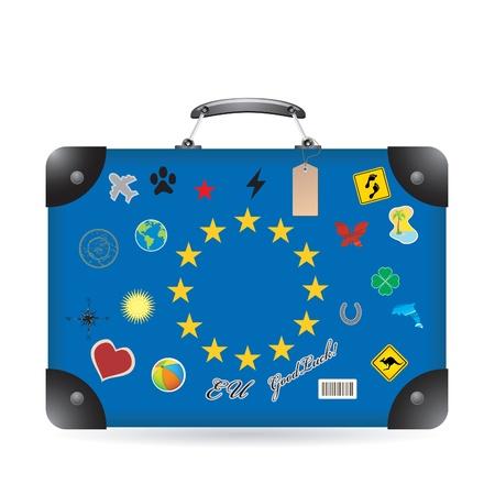 europa: Europa flag on bag Illustration