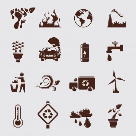 turbina de vapor: ecología conjunto Vectores