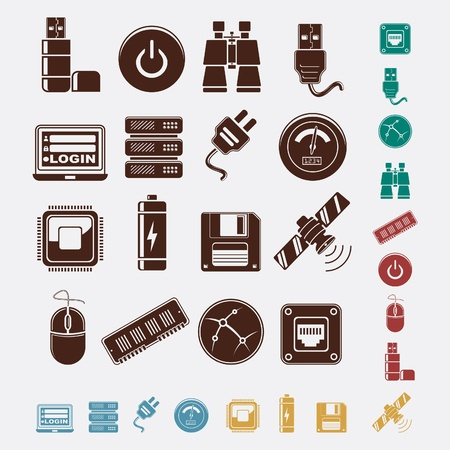 set of hosting icons Stock Vector - 18267074