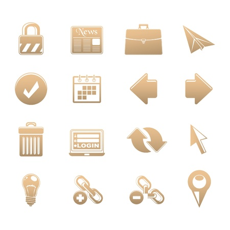 set of icons Stock Vector - 18267067