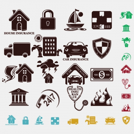home products: Insurance Icons