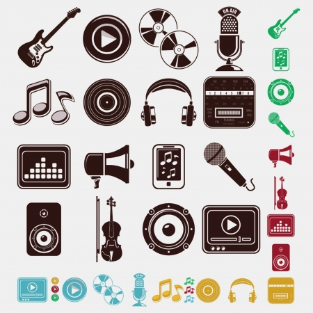 music and sound set Stock Vector - 19657397
