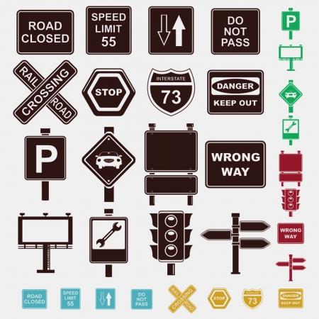 no pase: signos conjunto de iconos Vectores