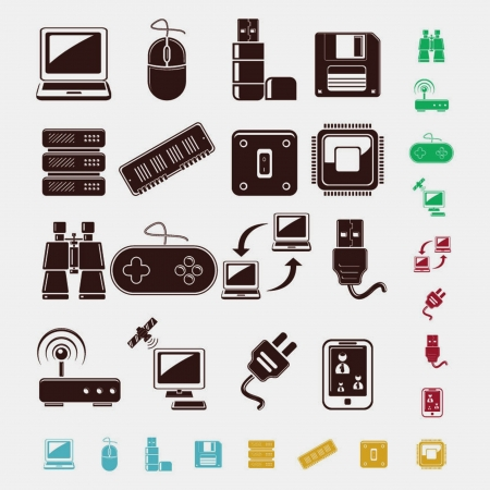 wireless technology: technology set of icons Illustration