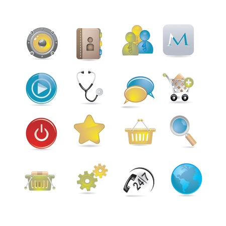 basic icons set Stock Vector - 21470166