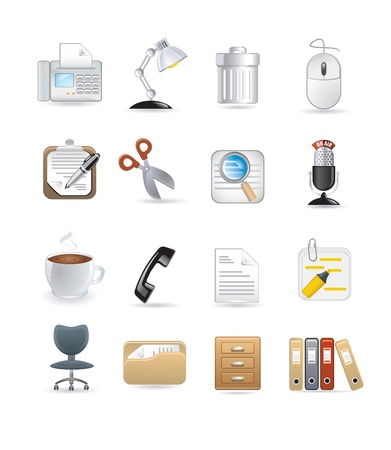 office computer icons Vector
