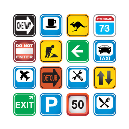 one way sign: signs app icons