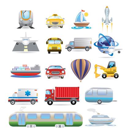 dredger: transportation icon set