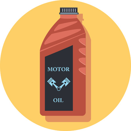 motor oil: motor oil circle icon with shadow