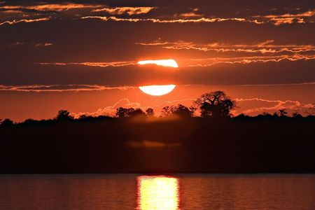 sunset on Zambezi
