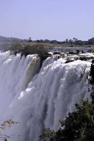 Victoria Falls in Zambia Stock Photo