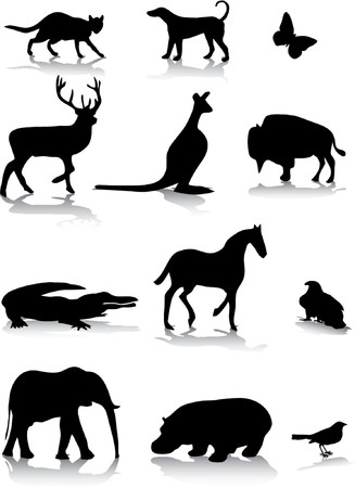 Animal silhouettes Illustration