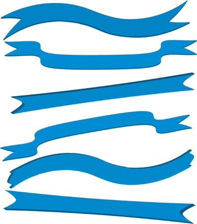 Blue banners Illustration