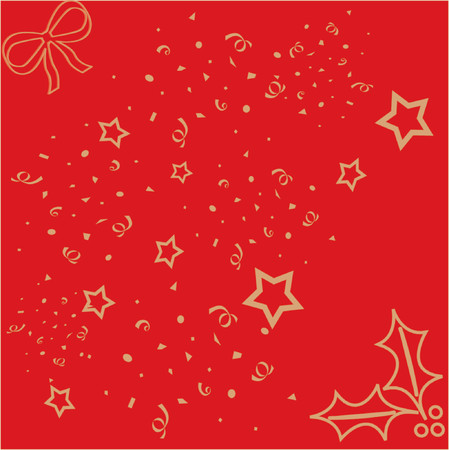 Xmas wrapping paper Vector
