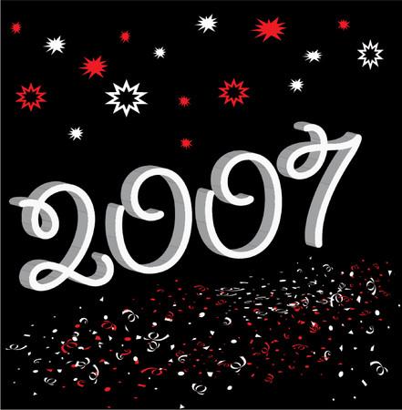 happy 2007 illustration Illustration