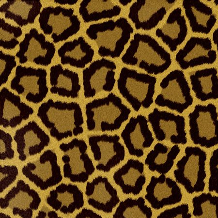Illustrated leopard fur background Stock Photo