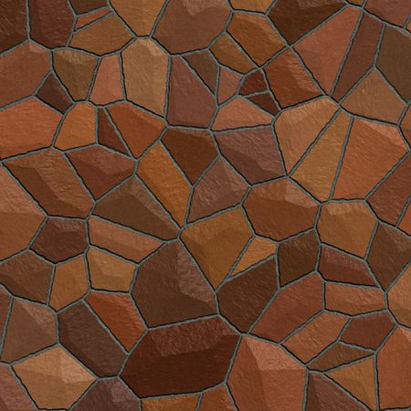 Illustration of a red stone wall