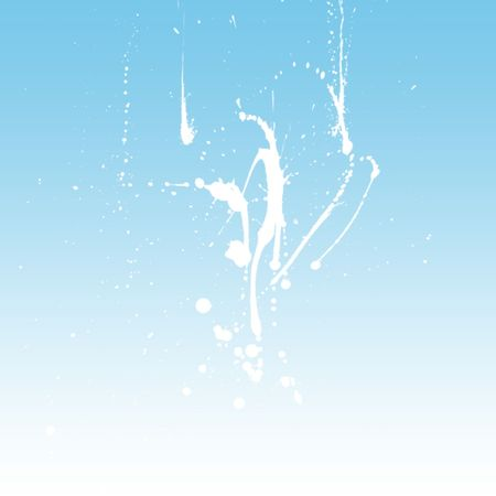 Blue gradient background with paint splash