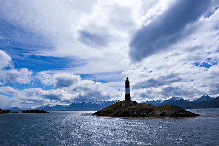 Lighthouse in South America photo