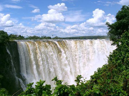 simbabwe: Die Victoria Falls in Simbabwe Lizenzfreie Bilder