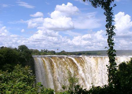 zimbabwe: Victoria Falls en Zimbabwe (principales ca�das)