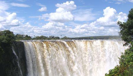 Main falls of Victoria Falls in Zimbabwe Stock Photo