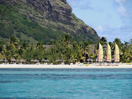 Beach resort in Mauritius
