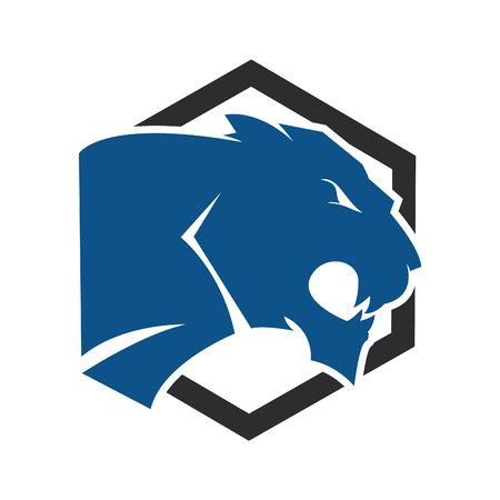 Panther or Tiger vector logo. Modern professional logo for sport team.