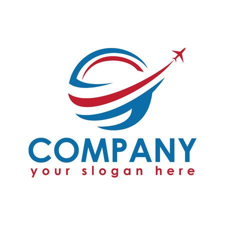 ロゴを旅行します。旅行代理店の冒険の創造的な記号。  イラスト・ベクター素材