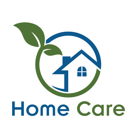 Save Download Preview Home Care Creative And Symbolic Logo Design. Illustration