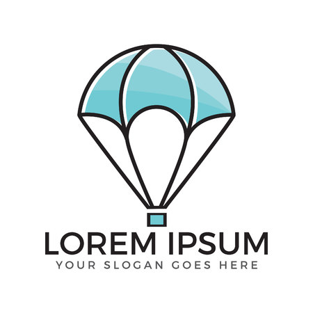 Air balloon flat icon. Single high quality outline symbol of outdoor activity for web design or mobile app.
