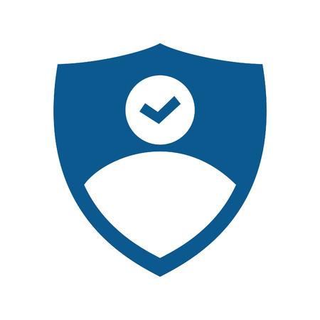 Businessman vector logo design. Businessman icon vector design.