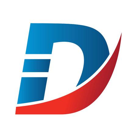 Creative letter D icon