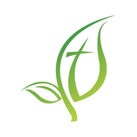 Leaf symbol icon design.