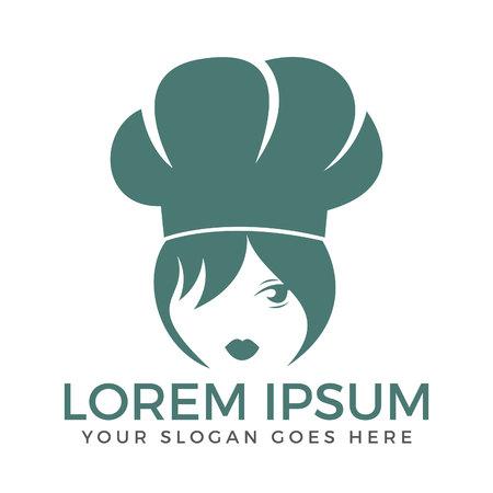 Chef Woman Face symbol icon design.