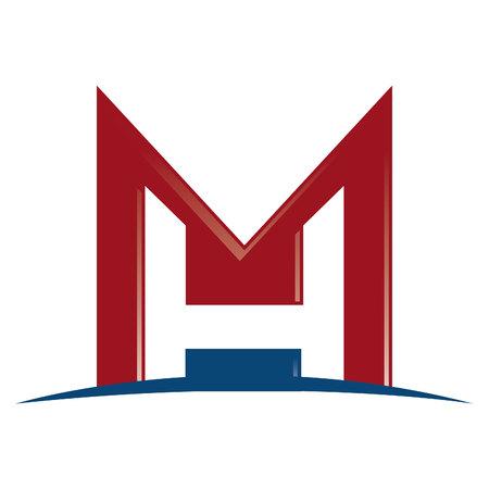MH Letter business branding vector icon  design.