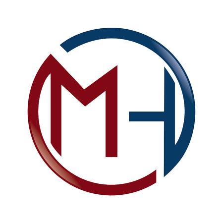 MH Letter business branding vector logo design. Vectores