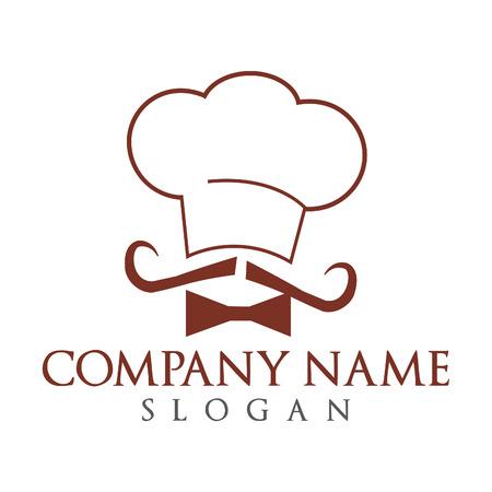 Chef-kok logo vectorillustratie. Bakkerij embleem vector ontwerp.