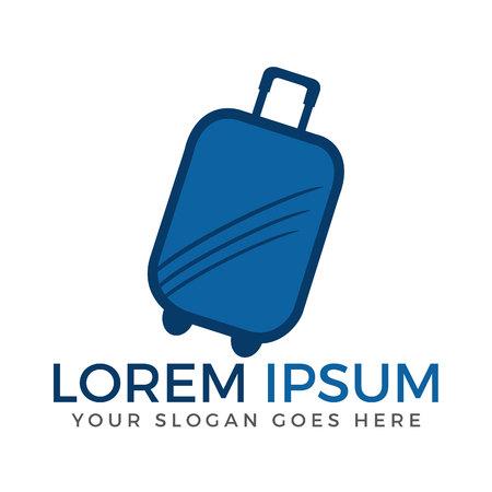 Luggage travel vector logo design.