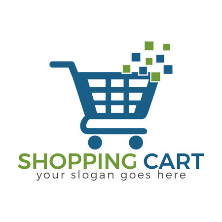 Shopping cart vector icon design.