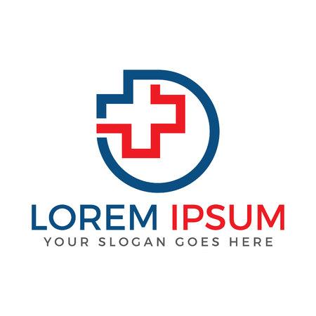 Health Medical Logo design. Cross medical vector logo design. Illustration