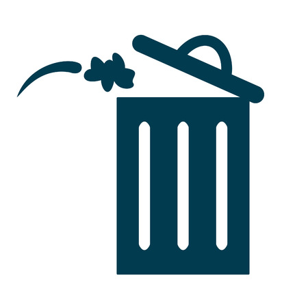 Trash bin or delete icon. Trash bin icon flat design style.