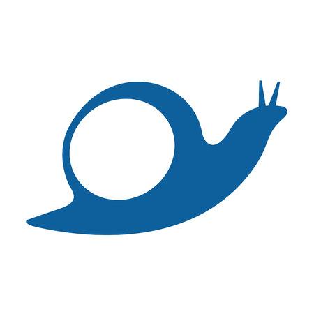 Snail logo design. Vector abstract logo.